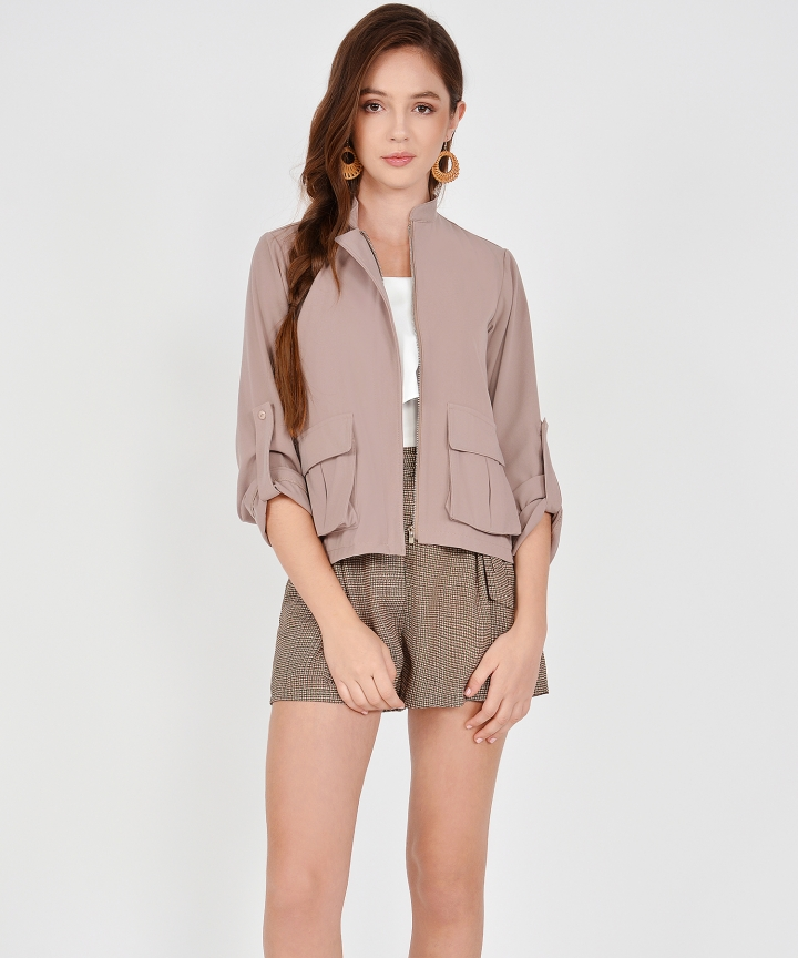 Alessia Jacket - Warm Taupe