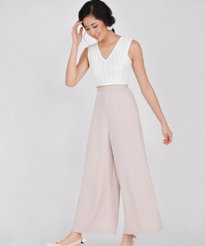 HVV Atelier Juno Palazzo Pants - Pale Nude