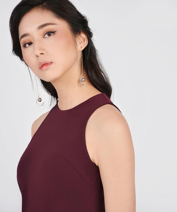 Orbis Crescent Pearl Earrings