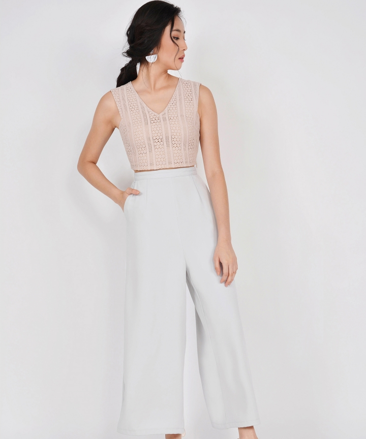 HVV Atelier Juno Palazzo Pants - Cool Grey