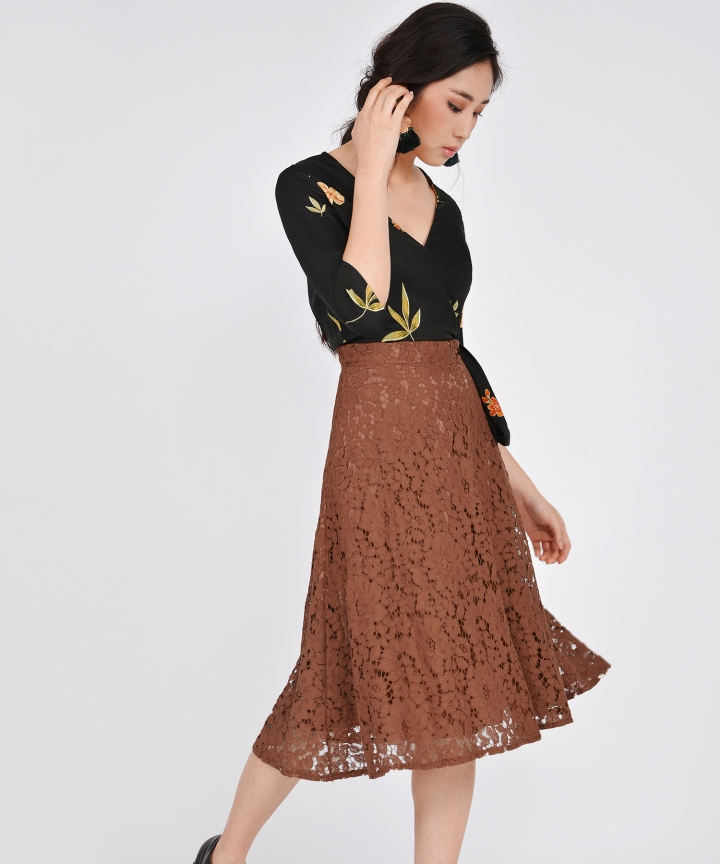 Sonata Lace Midi Skirt