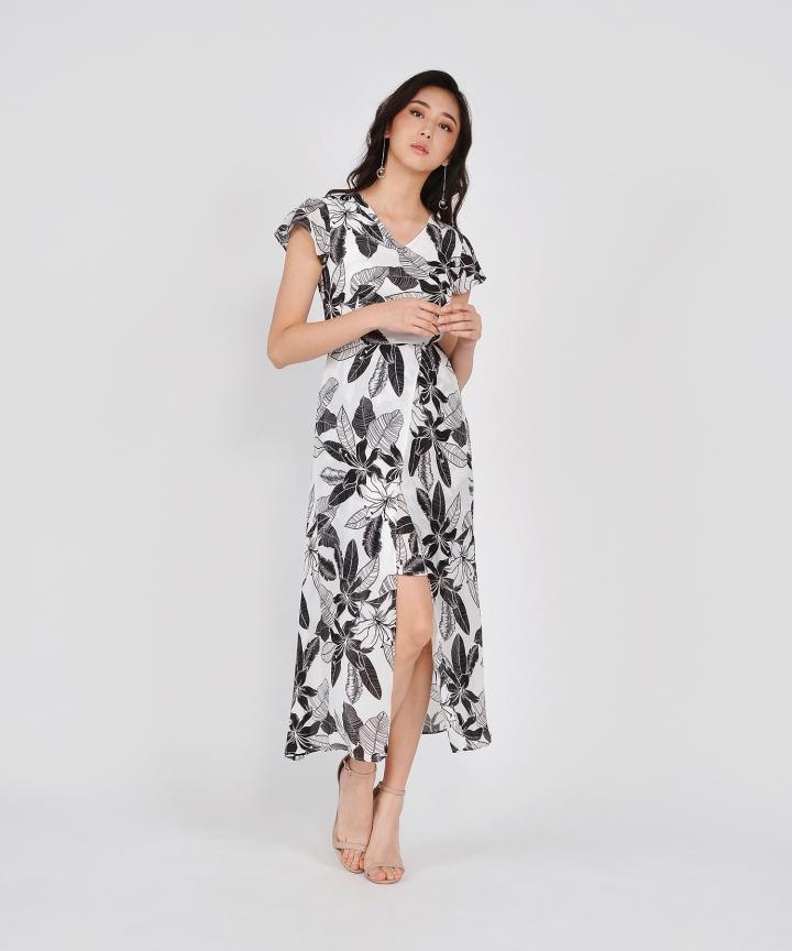 Anita Floral Overlay Maxi - White