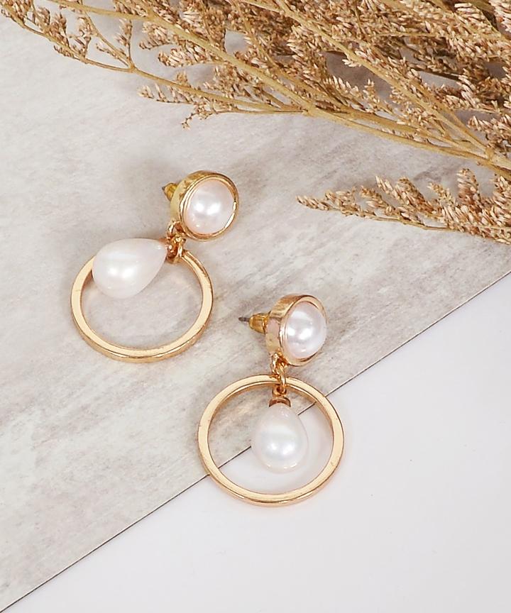 Elva Pearl Drop Earrings