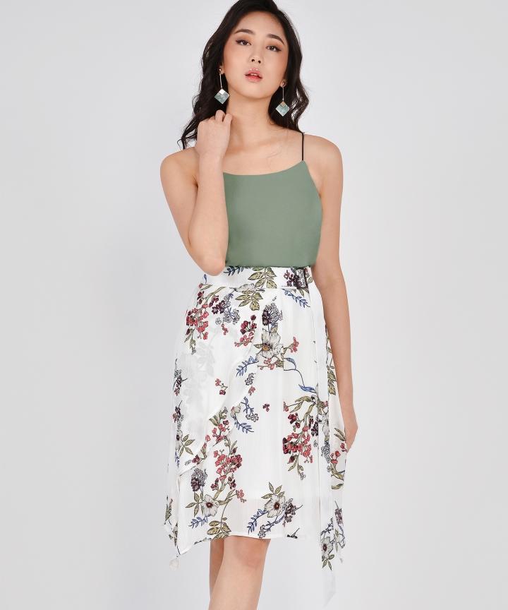 Esmerelda Floral Skirt - White