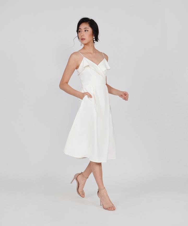 Katarina Wrap Midi - White