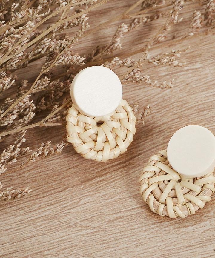 Blanc Rattan Earrings