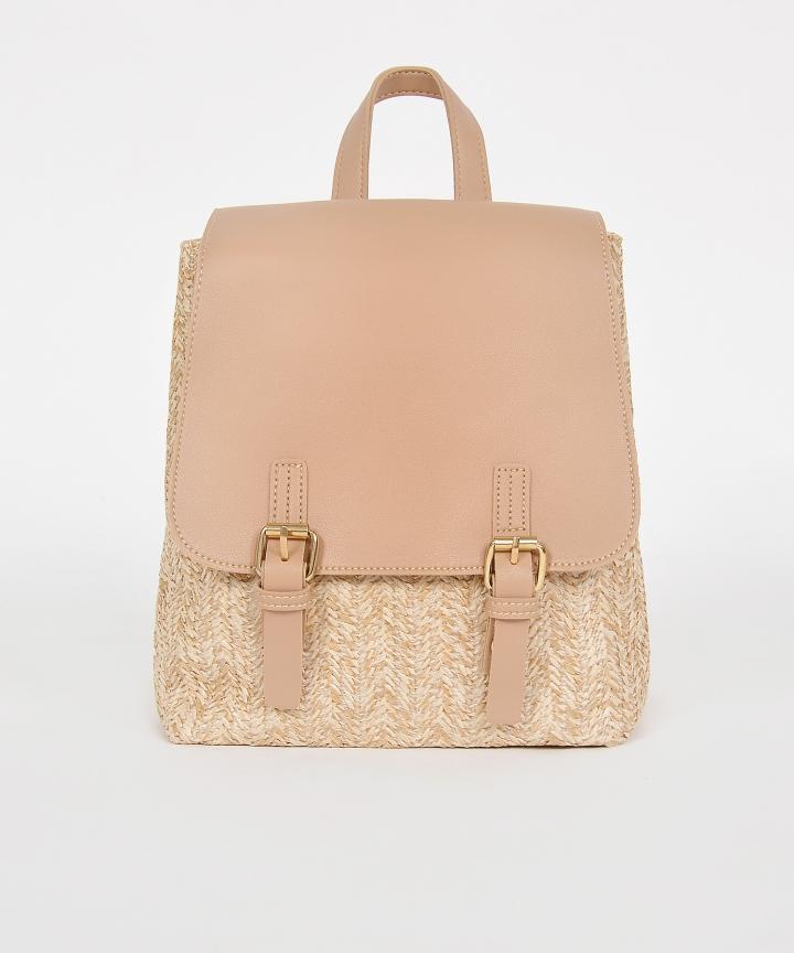 Tavi Straw Backpack - Tan
