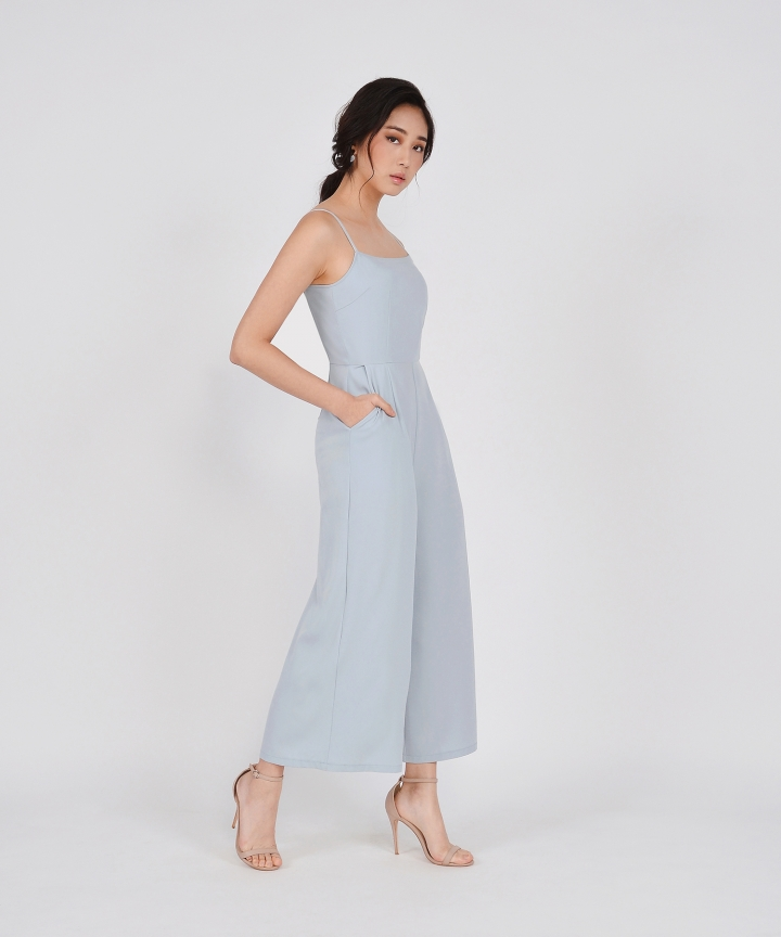 Glossier Jumpsuit - Pale Blue