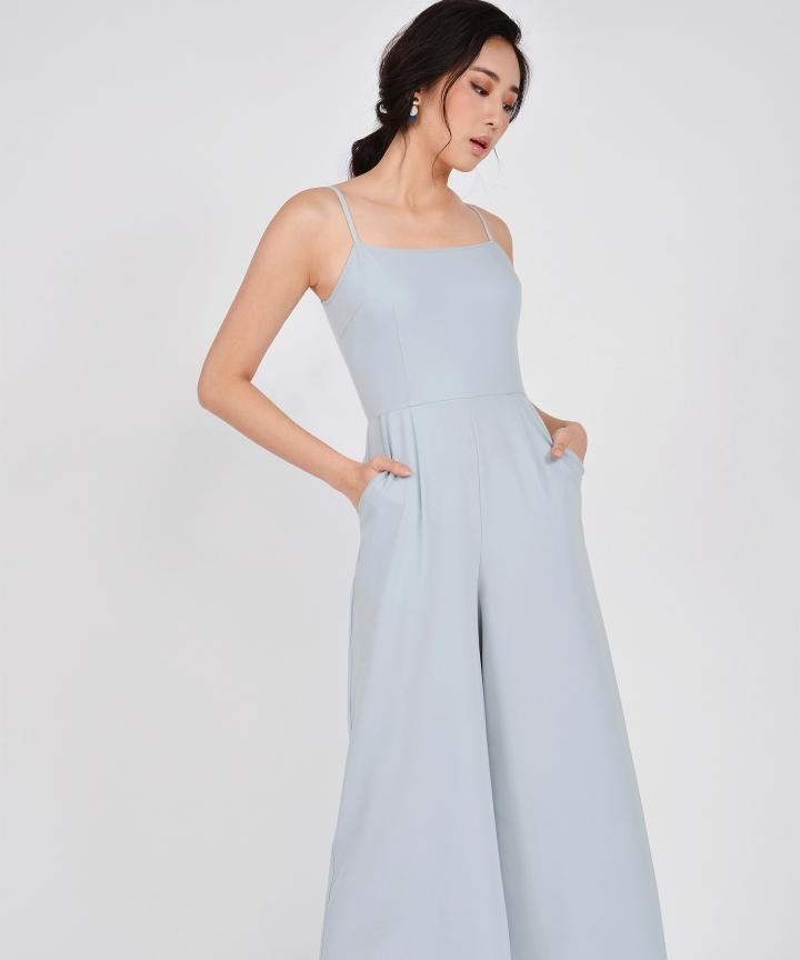 Glossier Jumpsuit - Pale Blue