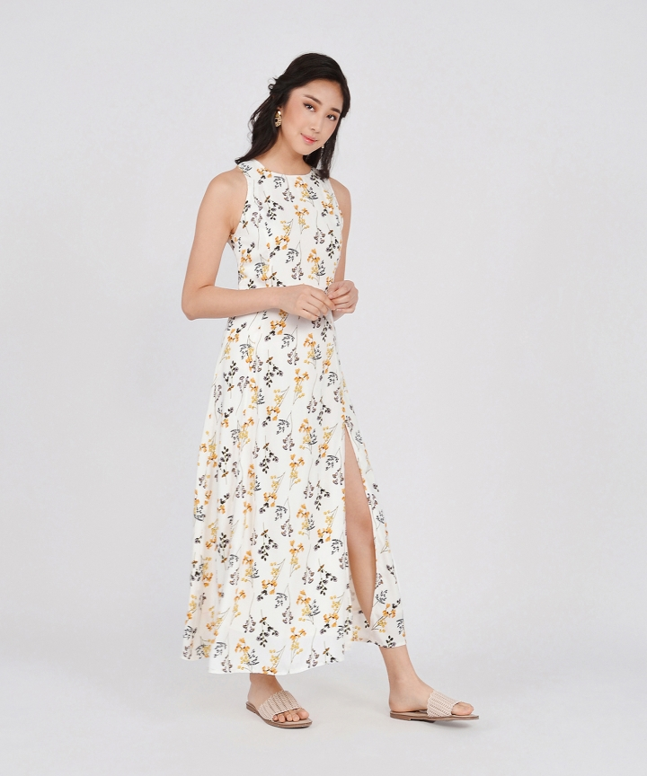 Garland Floral Maxi - White