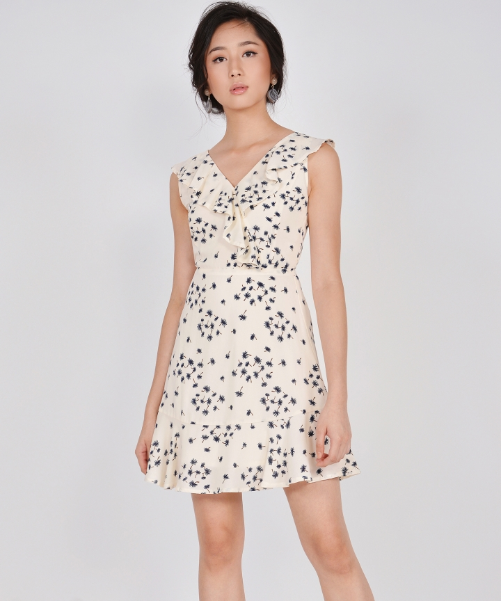 Faye Ruffle Dress - Ivory