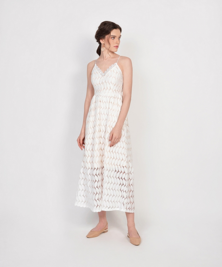 Luxembourg Lace Maxi - White