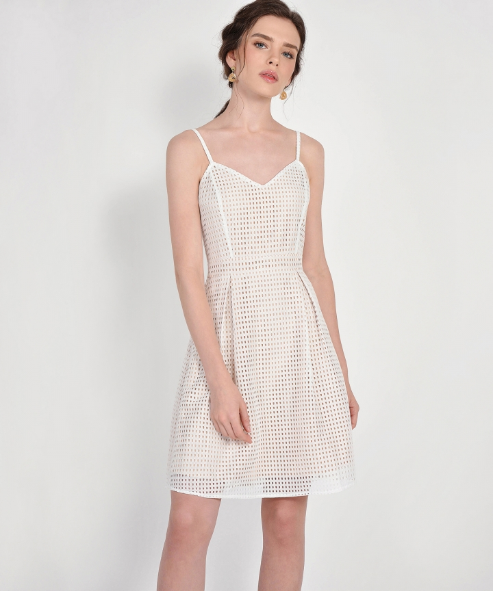 Lattice Dress - White