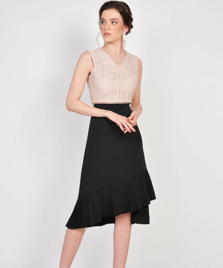 Tranquil Pleated Skirt - Black