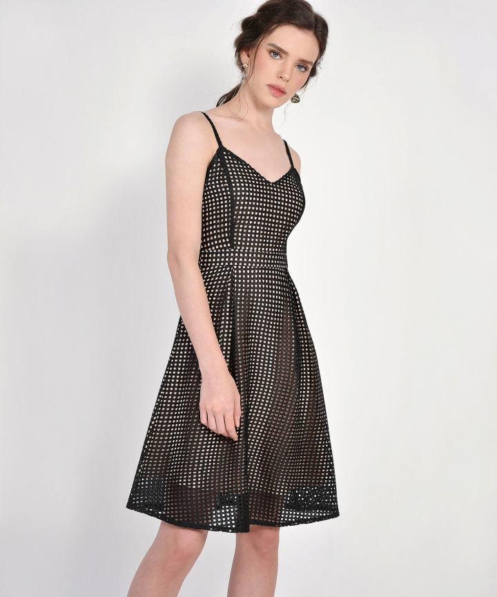 Lattice Dress - Black