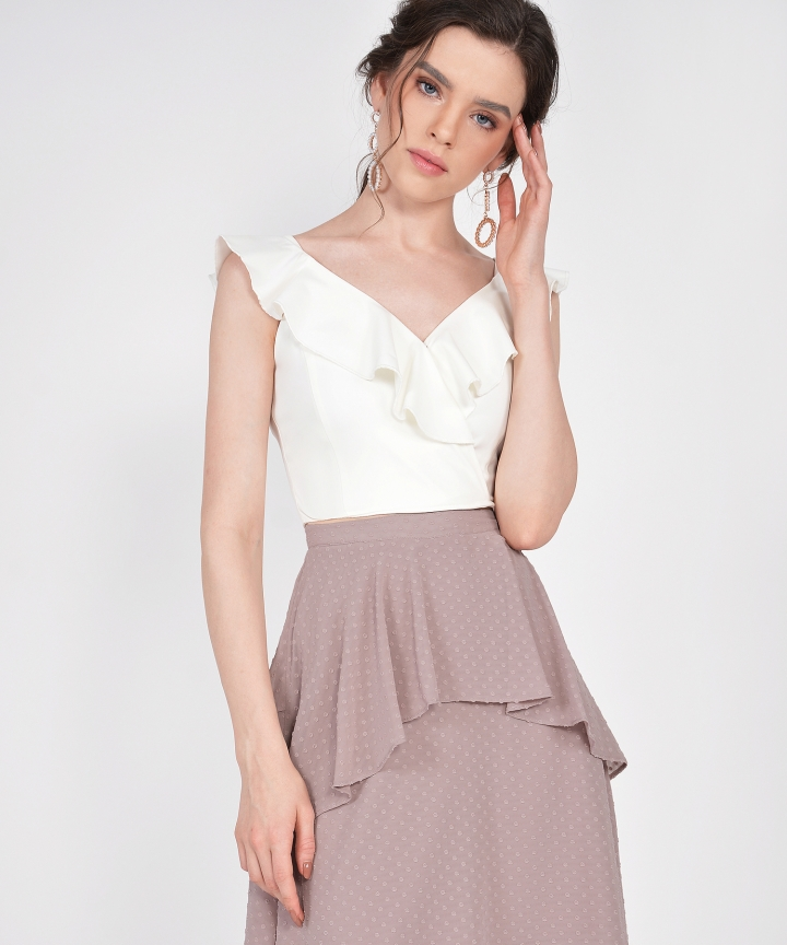 Whimsy Textured Skirt - Dust Pink