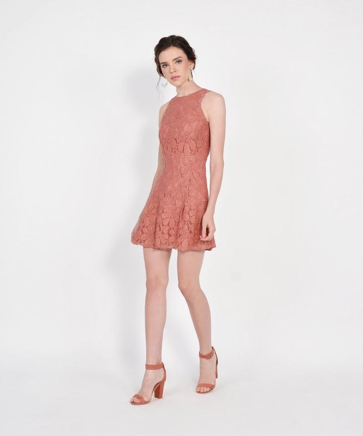 Lilah Lace Dress - Terracotta