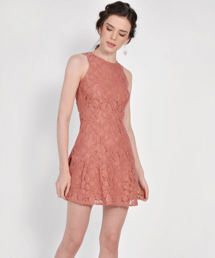 Lilah Lace Dress - Terracotta