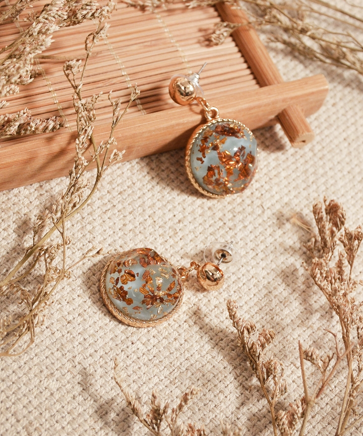 Venice Speckled Earrings - Blue (Backorder)