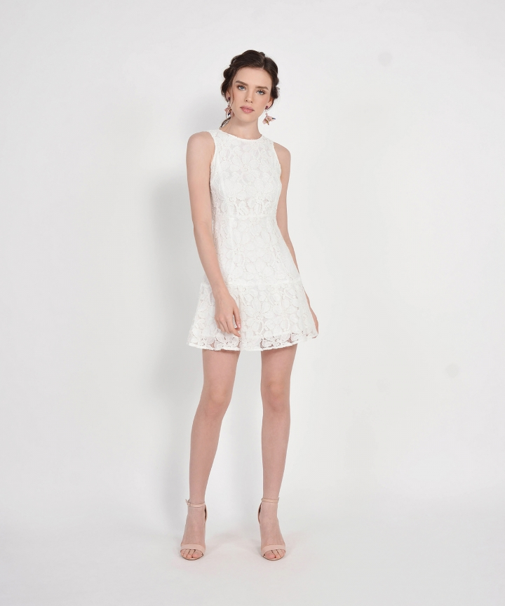 Lilah Lace Dress - White