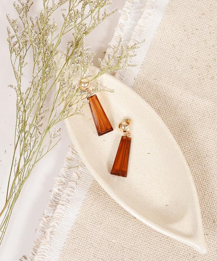 Liquorice Rectangle Earrings