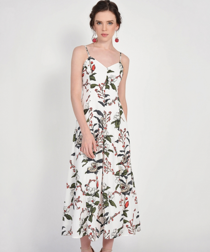 Jasmine Floral Maxi - White