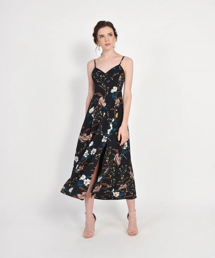 Jasmine Floral Maxi - Midnight Blue