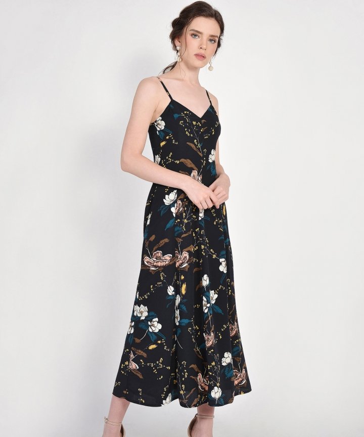 Jasmine Floral Maxi - Midnight Blue