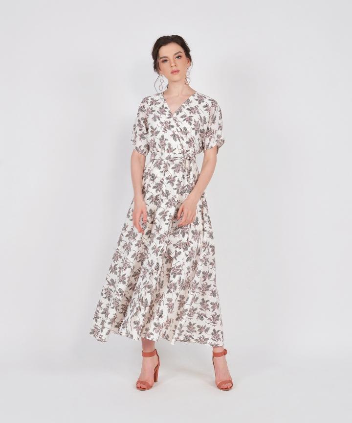 Tzar Floral Kimono Maxi - White (Backorder)