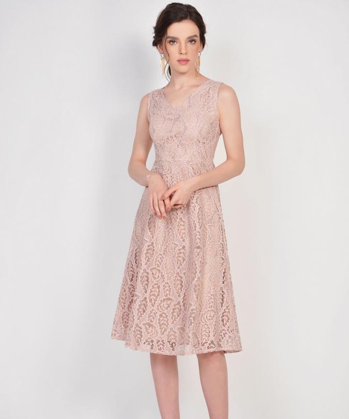 Karina Lace Midi - Dust Pink