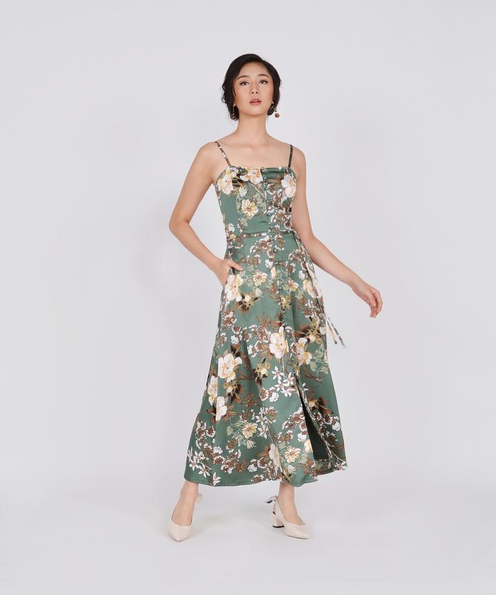 Ceres Floral Maxi - Seafoam