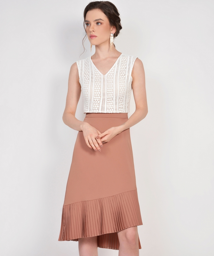 Cecilia Eyelet Cropped Top - White (Backorder)