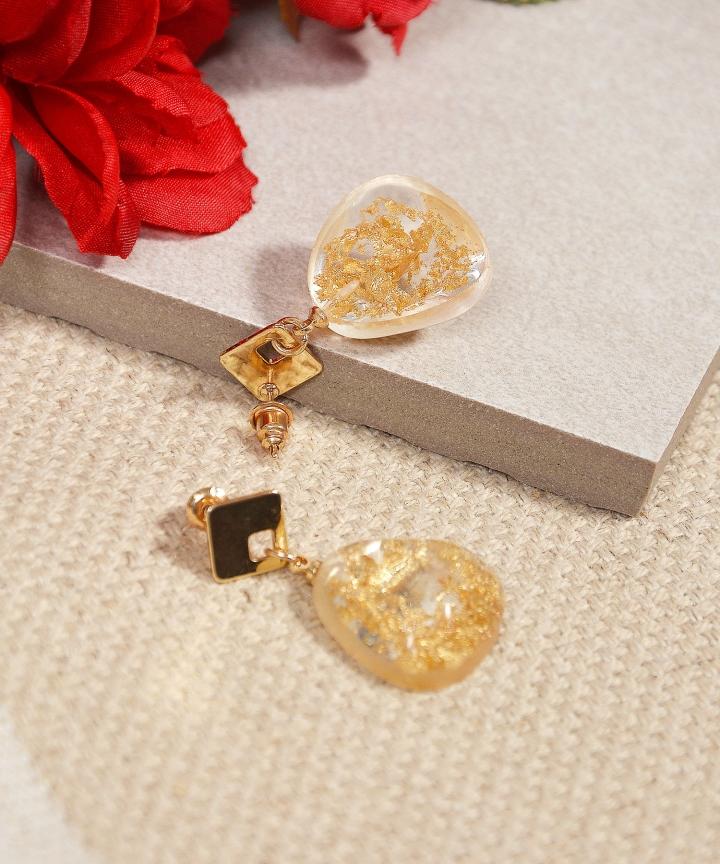 Zelda Speckled Earrings - Gold (Backorder)
