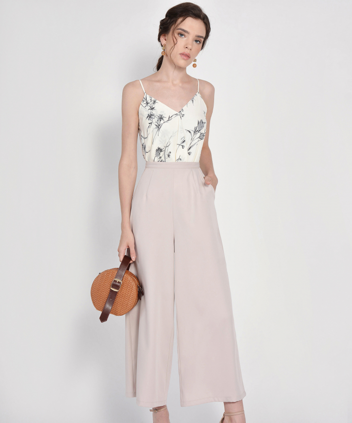 HVV Atelier Juno Palazzo Pants - Pale Nude (Backorder)