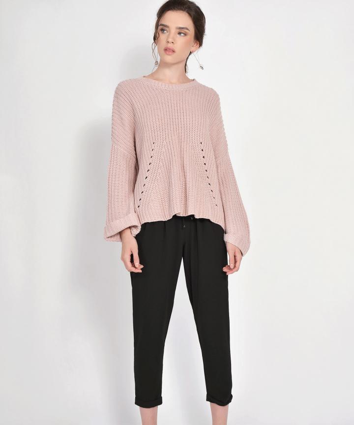 Kendall Distressed Sweater - Blush