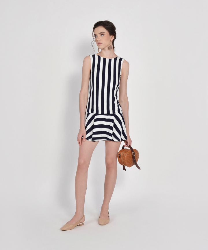 Julia Striped Mini Dress