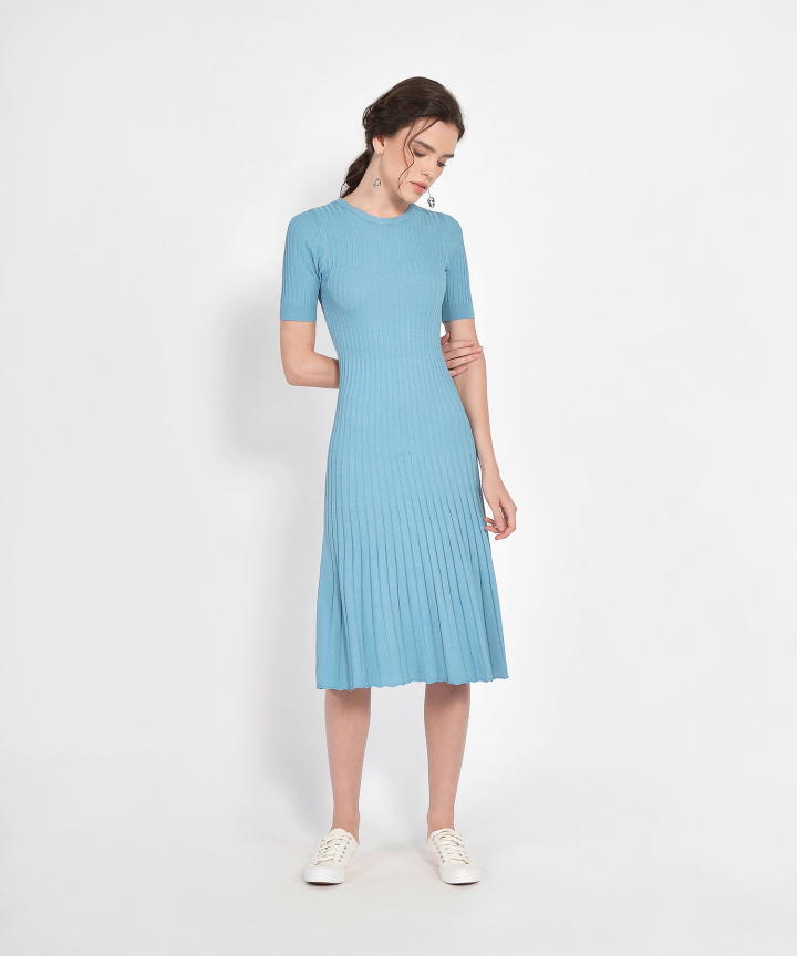Volley Knit Midi - Blue