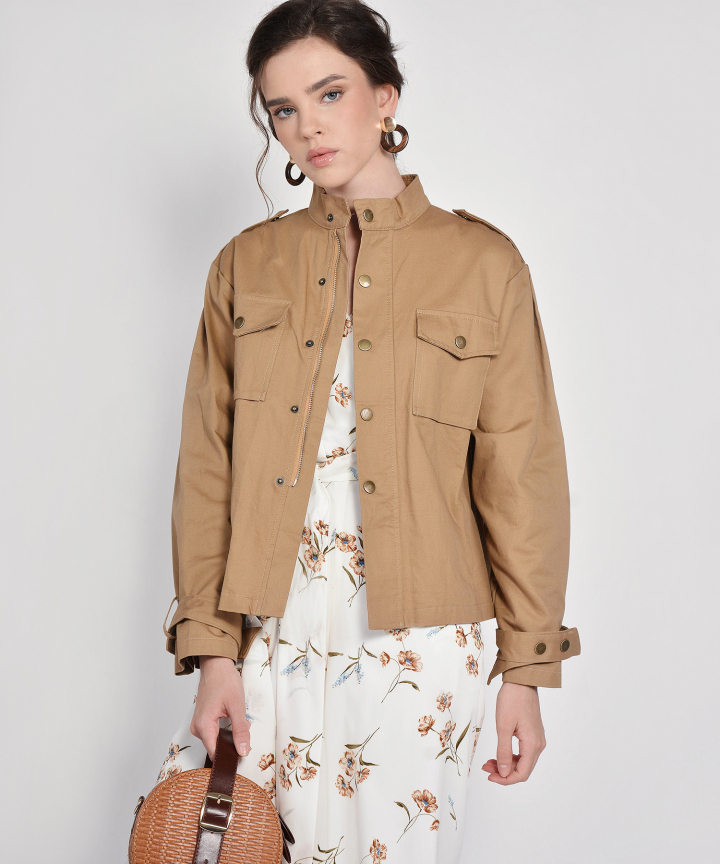 Klaus Oversized Jacket - Tan
