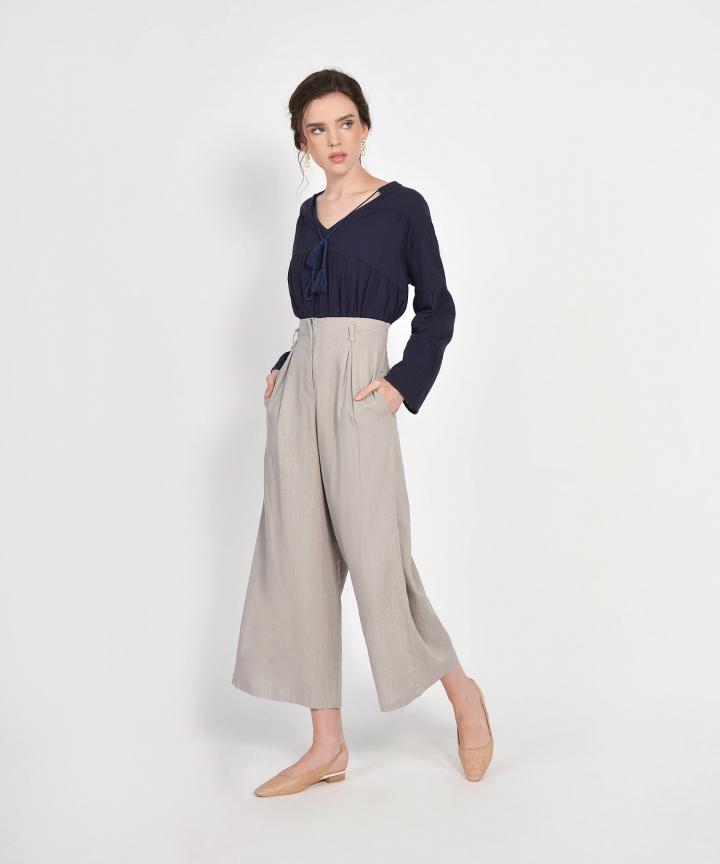 Cala Linen Tie Blouse