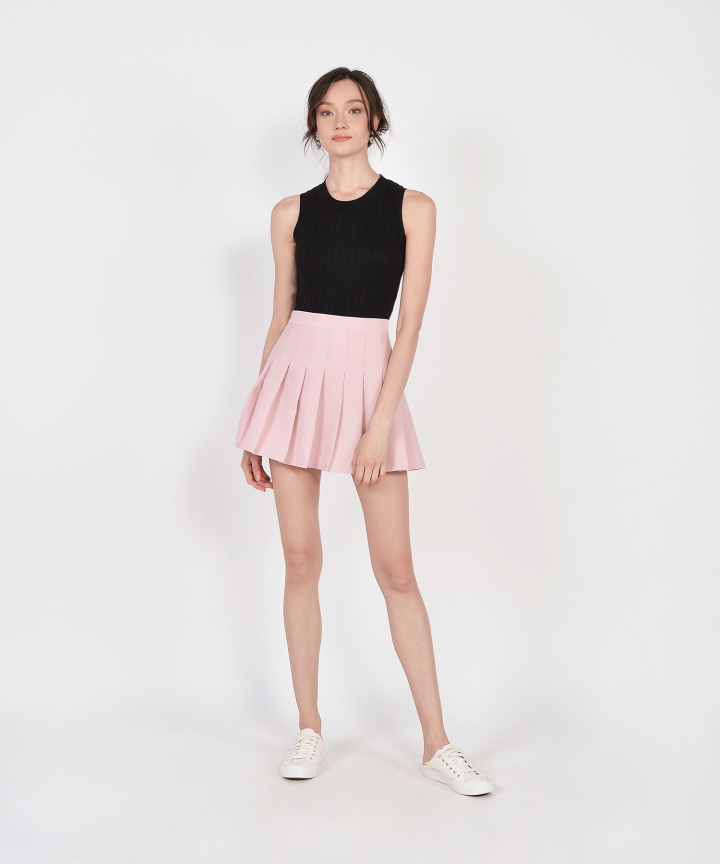 Tennis Pleated Skorts - Pale Pink