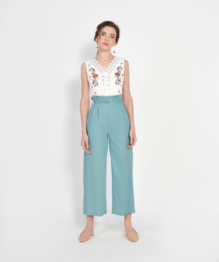 Verona Belted Paperbag Trousers