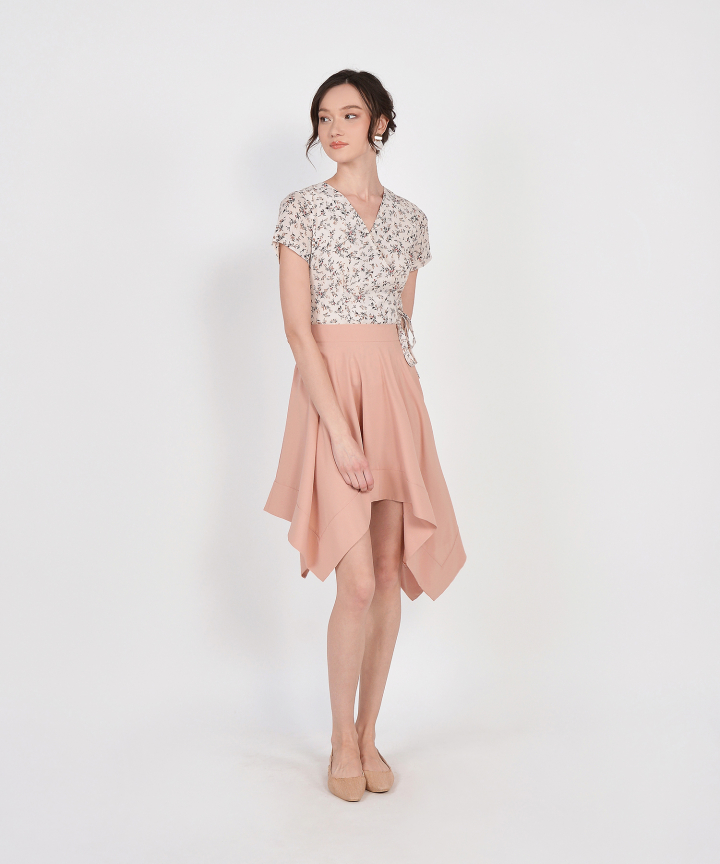 Cascade Asymmetrical Skirt - Blush