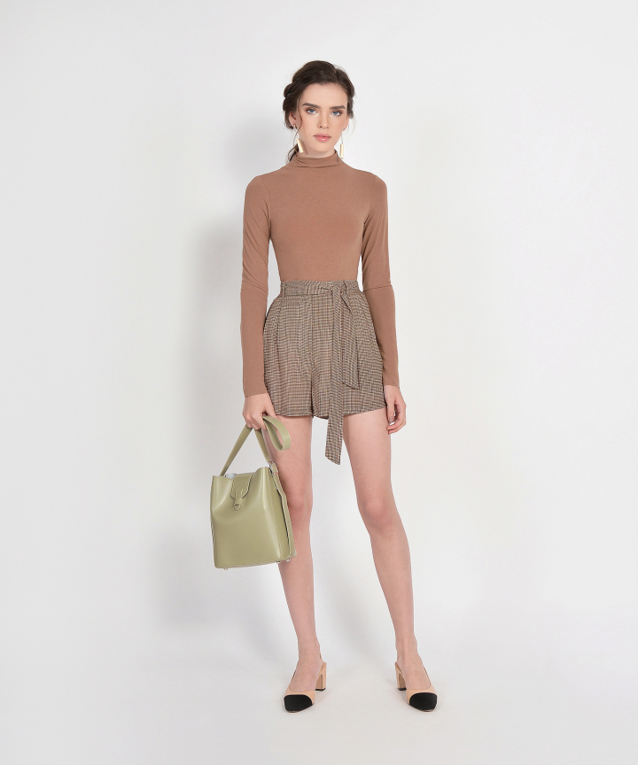 Mara Long-Sleeved Basic Top - Mocha