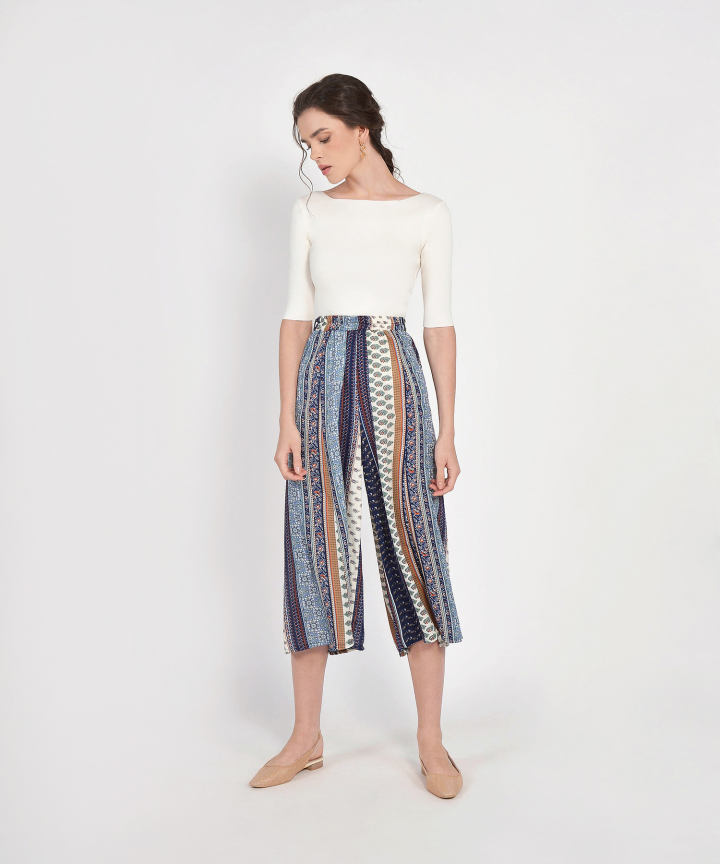 Mosaic Patterned Culottes