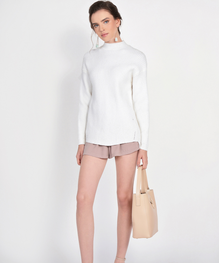 Elise Knit Sweater - White