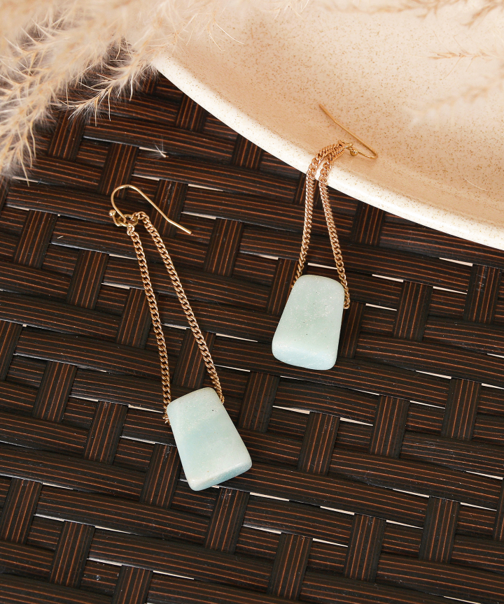Peak Marble Drop Earrings