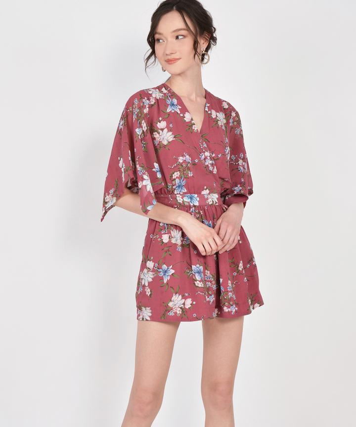 Annette Floral Kimono Playsuit - Malaga
