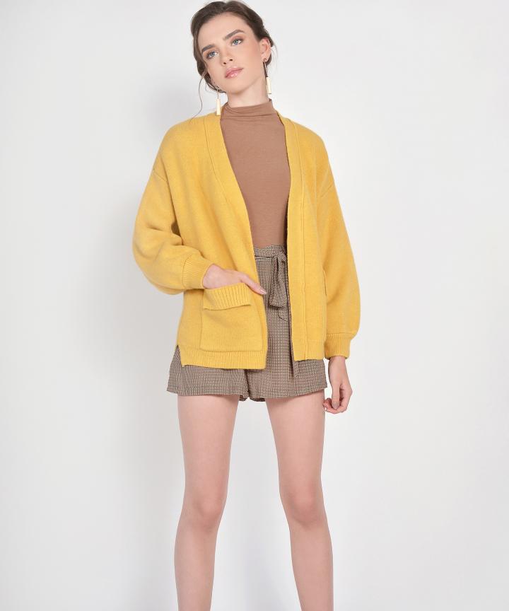 Misa Cardigan - Mustard (Backorder)