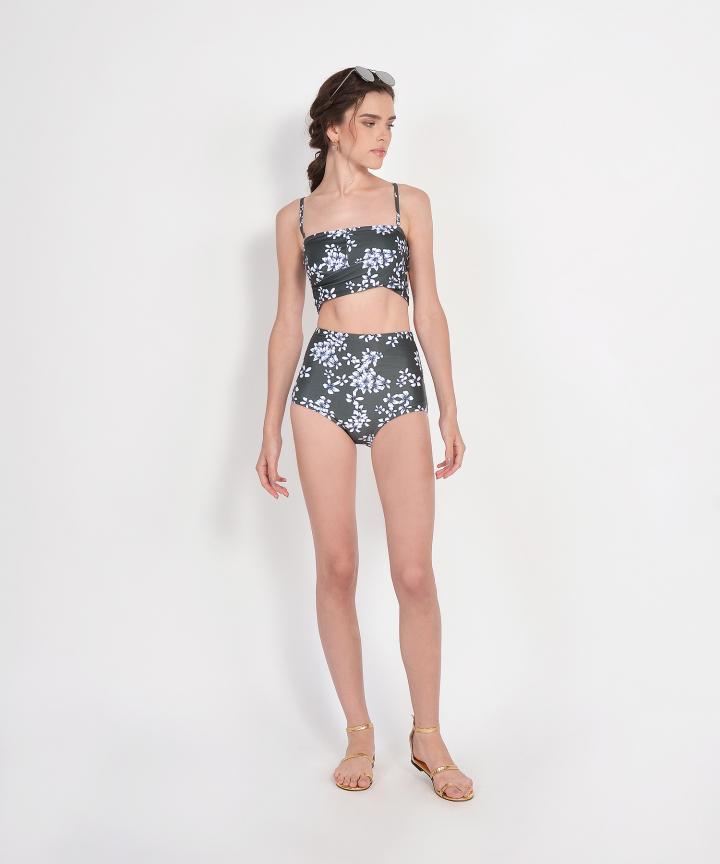 Teresa Floral Bikini - Dark Olive