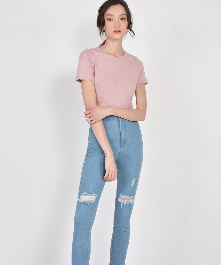 Denver Basic Tee - Dust Pink